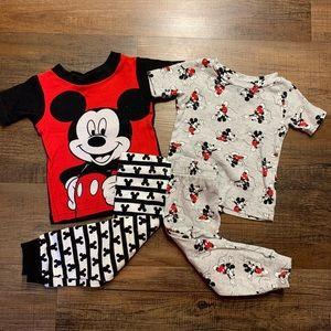 4 pc 12-18 month boys Mickey Mouse Disney pajamas
